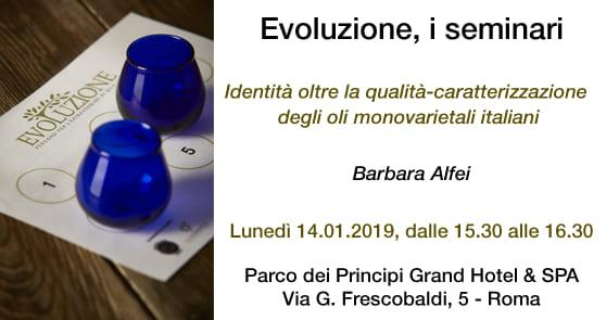 """Seminario Evoluzione: """"Identità oltre la qualità: caratterizzazione degli oli monovarietali italiani"""""""